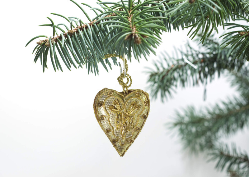 Christmas  heart  of the  Gold  tissue.